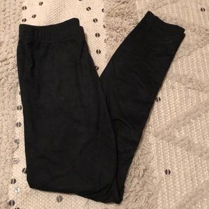 Forever21 Suede Leggings.